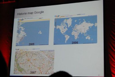 historie map Google